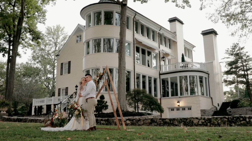 Wedding ceremony location at The Estate at Cherokee Dock